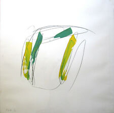 MICHAEL HEIZER Signed 1975 Original Color Screenprint with Hand Drawing