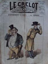 LE GRELOT CHANGEMENT A VUE ! A. LE PETIT N° 174 - 1874