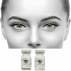 Fashionable Green Color Lens with Case and Solution
