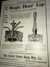 Magic Tap Us Bung Mfr Beer Ad 1908 Brewery Equipment Cincinnati
