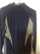 Under Armour Mens Large L/S Compression Shirt, Navy Blue And Gray, Vguc
