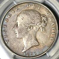 1850 PCGS VF 25 Victoria 1/2 Crown Great Britain Silver Coin (20053002C)