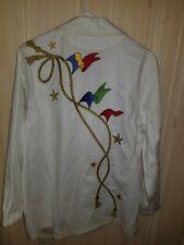 Vintage Designer Bob Mackie'S Wearable Art Woman'S Cotton Jacket M Nautical