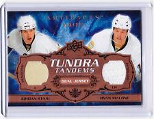 2008/09 Artifacts JORDAN STAAL & RYAN MALONE Tundra Tandems Dual Jersey 64/100!