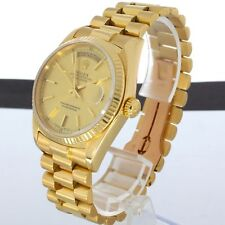 ROLEX OYSTER PERPETUAL DAY-DATE ARMBAND UHR IN GOLD 18038