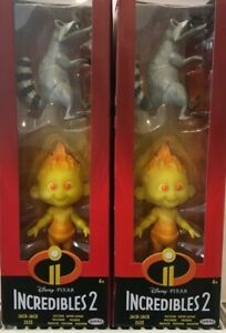 2 x INCREDIBLES 2 - JACK-JACK AND RACCOON FIGURES CHILDREN TOYS PRESENT GIFT NEW