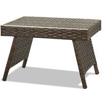 Patio Folding Wicker Side Coffee Table Poolside Garden Lawn Bistro Furniture