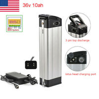 36V 10AH E-bike Lithium Battery Cell Pack w/ Charger 350W Electric Bicycle US
