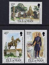 1985 ISLE OF MAN SIR MARK CUBBON BICENTENARY SET OF 3 FINE MINT MNH/MUH