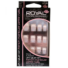 Royal 24 Faux Ongles avec Colle French Manucure Petite