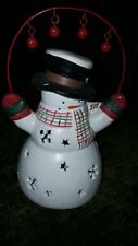 Holiday Snowman Tealight Holder