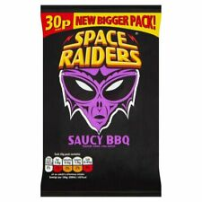 Space Raiders Saucy BBQ Snacks 25g 36 Pack