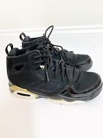 Nike Jordan Flightclub '91 BG Athletic Sneakers Black Gold Boys Size 4 with box
