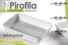 PIROFILA DA FORNO RETTANGOLARE BIANCA IN PORCELLANA 29*20*5,5 CM BOV-646157