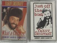 Yakov Smirnoff Lot Of 2 Cassette Tapes 1994 - Just Off The Boat & What A Country