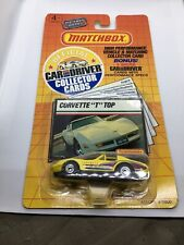 Matchbox Covette T Top Car And Driver Collector Cards NIP 1989