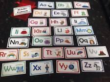 alphabet flashcards letter cards 26 picture cards childminder nursery EYFS SEN