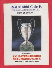 Orig.PRG   EC 1  1986/87  REAL MADRID - BAYERN MÜNCHEN  1/2 FINALE  !!  RARITÄT