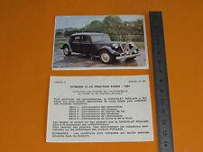 CHROMO CHOCOLAT POULAIN 1976 AUTO VOITURE CITROEN 15 CV TRACTION AVANT 1951