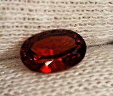 0.7 Cts Granate Natural Rojo intenso - forma Oval - sin Tratar