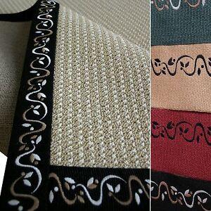 Sonderposten Juteband bestickt, 12 cm breit, für Teppiche oder Bastelarbeiten