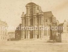 Grd PAPIER SALÉ 44x34cm d'après Calotype 1855-Eglise St Gervais PARIS - E BALDUS