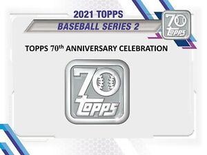 CHICAGO CUBS 2021 Topps Series 2 Baseball 6-Box Jumbo Case #1 Break