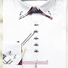 Camisa manga larga hombre slim fit ajustado apretado inserciones scots AK-3009