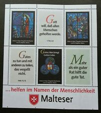 Malta Sovereign Military Order Of Chagalls Glass Windows Stain (ms) MNH *rare