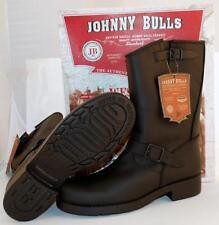 Men's Engineer Biker Motorcycle Leather Boots Black Johnny Bulls UK 8 Spain