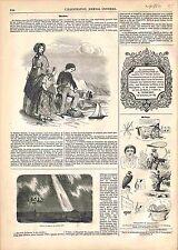 Mode Femmes Enfants Garçon Fille Robes Chemise Pantalon Jupe /Rébus GRAVURE 1847