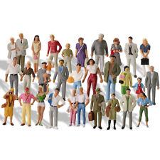 30Stk. Modellbahn Spur 0 Bemalte Figuren 1:43 Stehende Menschen Bonsai Dekor