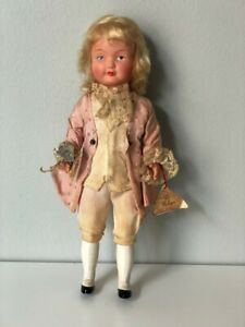 "Antique Austrian Costume Celluloid Helga Doll 9"" Made In Austria"