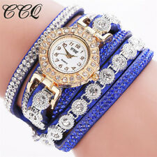 Fashion Women Ladies Analog Quartz Bling Diamond Bracelet Dress Wrist Watch Gift