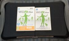 Black Nintendo Wii Fit Balance Board + Wii Fit Plus Video Game + Booklet