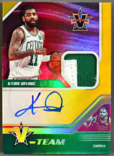 17-18 Panini Vanguard Kyrie Irving JERSEY PATCH ON CARD AUTO 8/10 2017 2018 NETS