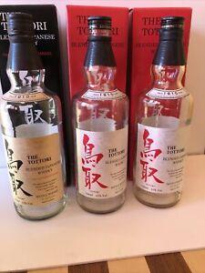 6 leere Whisky Flaschen, 1 Wodka leer