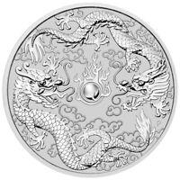 2019 P Australia 1 oz Silver Double Dragon $1 Coin GEM BU SKU57855