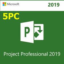 5PC MICROSOFT PROJECT PROFESSIONAL 2019 🔐 Genuine License ⭐