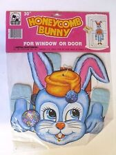 """VINTAGE EASTER 30"""" HONEYCOMB BLUE BUNNY NIP EASTER CREATIONS CORP."""
