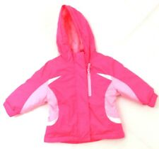 Healthtex Baby Pink Girls Jacket 12 Months Hood Long Sleeve