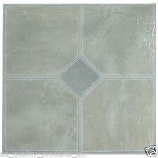 28 X Vinyle Sol Carreaux-Auto-Adhésif-Salle de Bain Cuisine, gris pâle classique 181