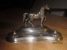 Art Deco Inkwell Horse No Ink Bottle
