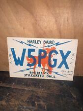 VINTAGE  HAM RADIO QSL CARD, Stillwater Oklahoma 1950.