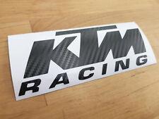 2x KTM Racing Logo Carbon Fibre Effect Vinyl Decal/Sticker Bellypan,Tank,Fairing
