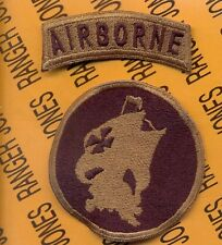 School of the Americas Special Operations Airborne OD green SOA patch