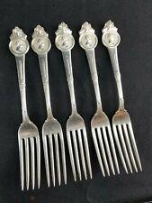 """Set Of 5 Gorham Medallion Dinner Forks 6 7/8"""""""