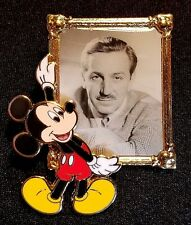 RARE 2008 WALT DISNEY WORLD MICKEY MOUSE WITH WALT DISNEY'S PHOTO PORTRAIT PIN