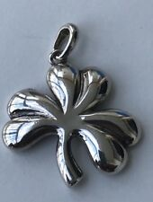 Vintage Ireland Silver Shamrock Charm