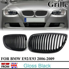 For 06-09 BMW M3 E92 E93 3 Series Coupe M Look Kidney Grille Grill Gloss Black